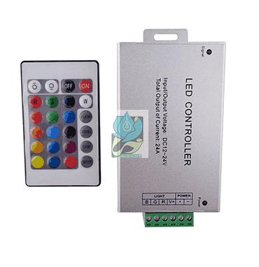 کنترلر RGB رادیویی 24 آمپر 12 ولت مدل DM24RF