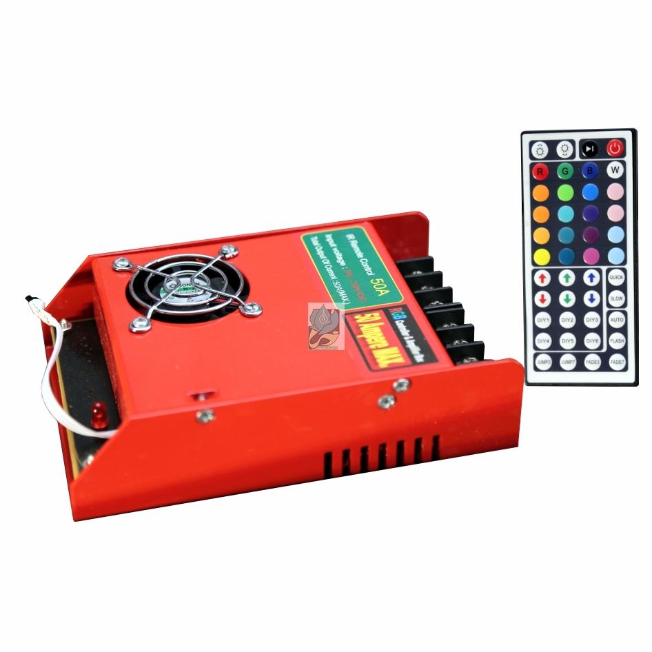 کنترلر RGB مادون قرمز 50 آمپر 12 ولت مدل DM50IR