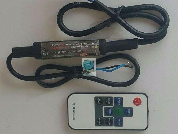 کنترلر RGB رادیویی ضد آب 8 آمپر 12 ولت آدامسی مدل DM8IP
