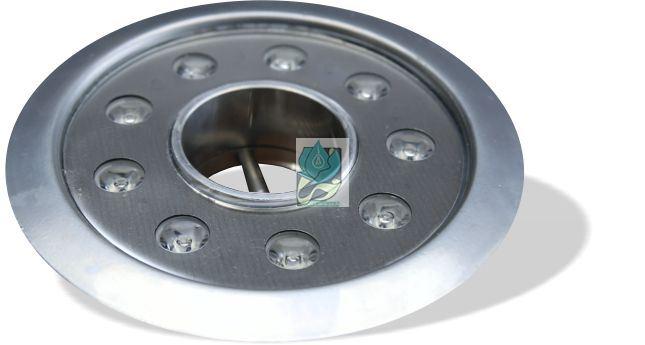 چراغ فواره ضد آب تک رنگ 9 وات 12 ولت مناسب لوله 3.4 تا 2 اینچ مدل 9RFT