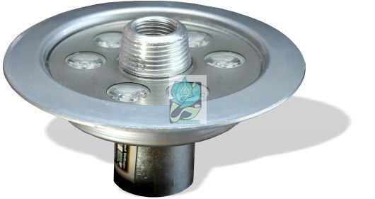 چراغ فواره ضد آب تک رنگ 6 وات 12 ولت مناسب لوله 1.2 و 1 اینچ مدل 6RF - چراغ فواره - چراغ فواره تک رنگ - چراغ فواره ضد آب تک رنگ - چراغ فواره تک رنگ 6 وات