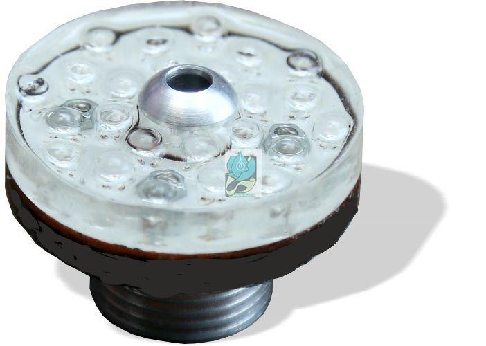 چراغ فواره ضد آب تک رنگ عدسی بیرون 1.5 وات 12 ولت مناسب لوله 1.2 اینچ مدل 2RFB