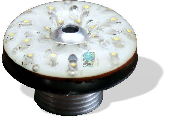 چراغ فواره ضد آب تک رنگ عدسی داخل 1.5 وات 12 ولت مناسب لوله 1.2 اینچ مدل 2RFD