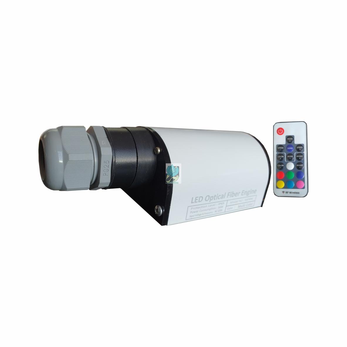 چراغ انجین فیبر نوری تک رنگ 25 وات 12 ولت مخصوص ماشین مدل 25FN