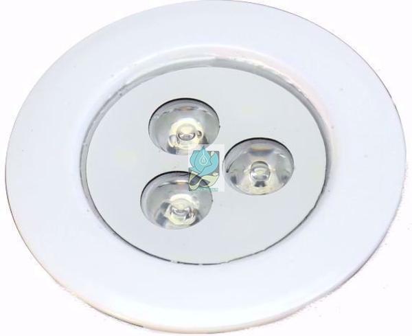 چراغ فنردار ضدآب مخصوص سقف استخر تک رنگ 3 وات 12 ولت مدل 3REF