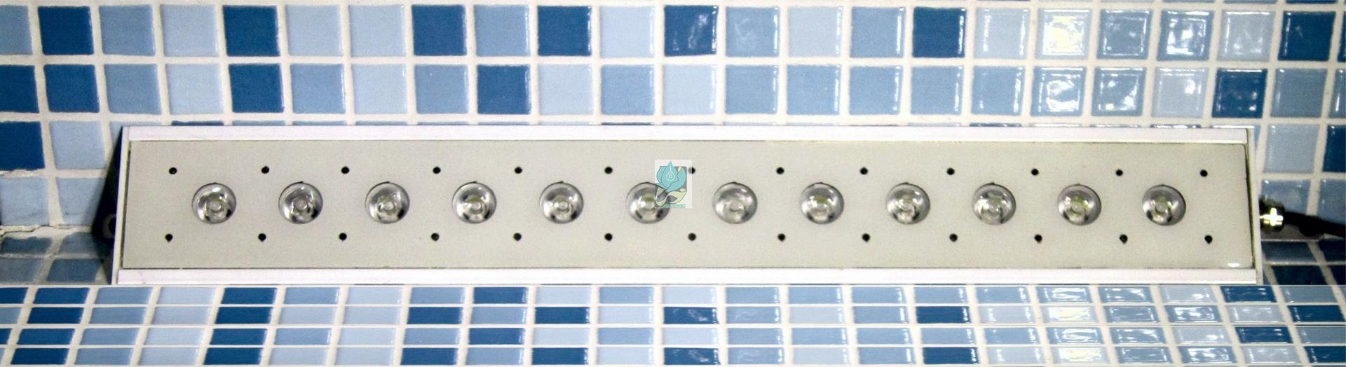چراغ روکار استخری کنج مولتی کالر 18 وات 12 ولت مدل 18RKM - چراغ روکار استخری کنج - چراغ روکار استخری مولتی کالر